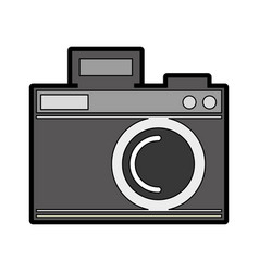 cute grey camera cartoon vector image