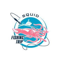 Fishing sport round symbol design vector