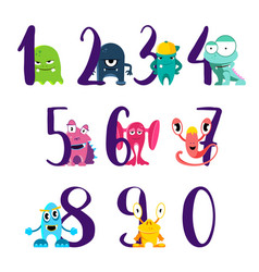 numbers for happy birthday with cute vector image vector image