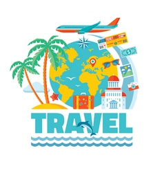 Travel - concept in flat style vector image
