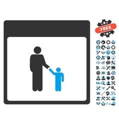 Father Calendar Page Icon With Bonus vector image vector image