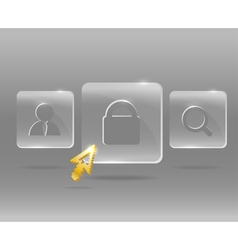 Glassy Icons vector image vector image
