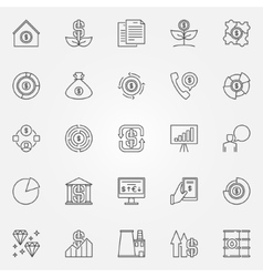 Investment and money icons vector image vector image
