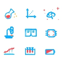 Lowpoly tech and science icons vector image
