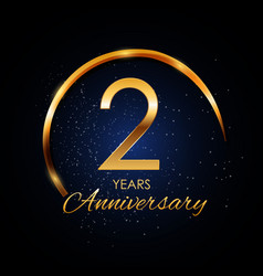 template logo 2 year anniversary vector image