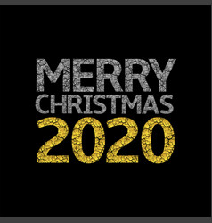 2020 broken silver and golden numbers vector image