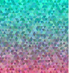 Abstract regular triangle mosaic tile background vector image