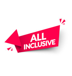 All inclusive arrow label vector