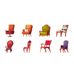 Armchairs and chairs for office and home interior vector