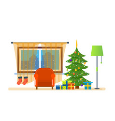 Atmosphere of the new year merry christmas vector
