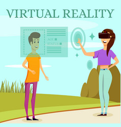 augmented virtual reality orthogonal composition vector image