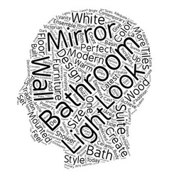 Bathroom mirrors the perfect ensemble text vector image