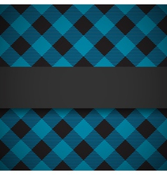 Blue tilted lumberjack plaid pattern vector