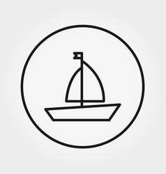 boat toy universal icon editable thin vector image