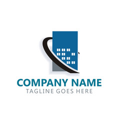 building real estate logo vector image
