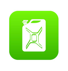 canister icon green vector image