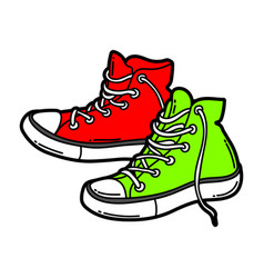 cartoon sneakers vector image