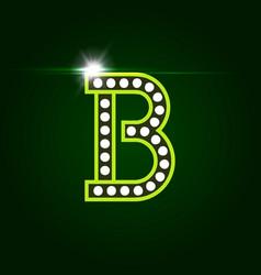 Casino and resort letter b luxury letter vector