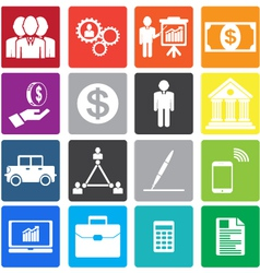collection business icon vector image