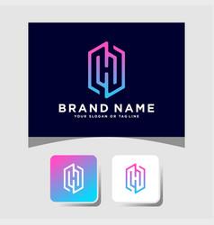 Colorful logo design letter h vector