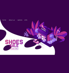 Concept of landing page for shoes shop fashion vector