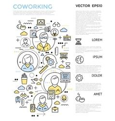Coworking Vertical Concept vector