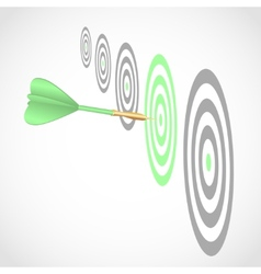 Dart right to target vector