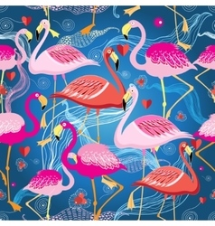 Different pattern of flamingos vector