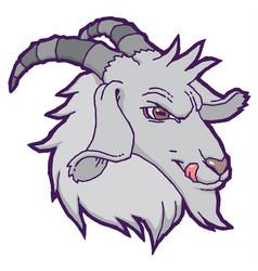 Drawn goat vector