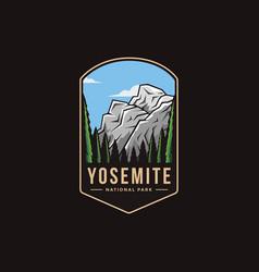 Emblem patch logo yosemite national park vector