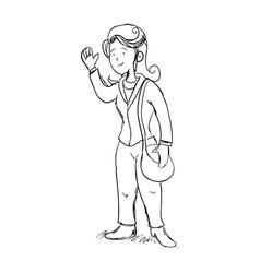 Executive woman cartoon draw vector