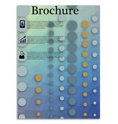flyer design business brochure template annual vector image