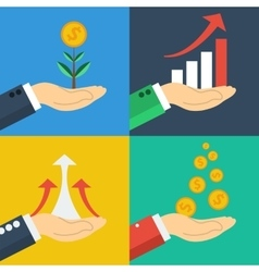 Four business growth concepts vector image