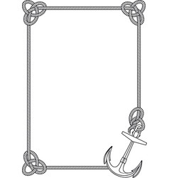 Frame with anchor vector