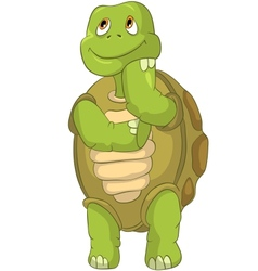 Funny Turtle Thinking vector