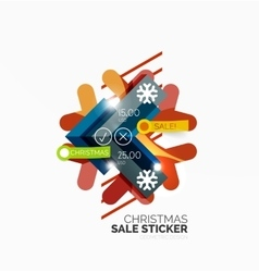 Geometric Christmas Sale Stickers vector image