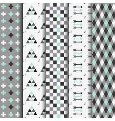Geometrical pattern set vector image