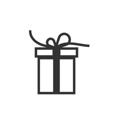 gift box icon design template vector image