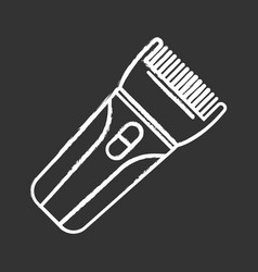 hair clipper glyph icon electric trimmer vector image