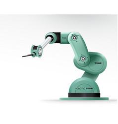 industrial machine robotic hand arm machinery vector image
