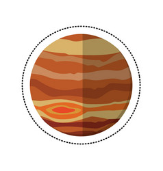 Jupiter planet space shadow vector