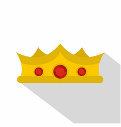 king crown icon flat style vector image