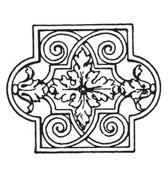 Lattice panel is a late german renaissance vector