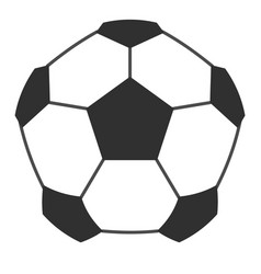 Leather soccer ball icon isolated vector
