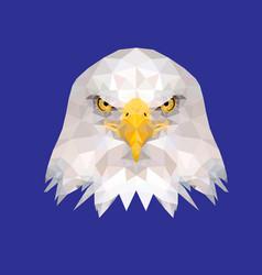 Low poly eagle head vector