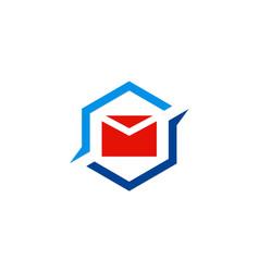 mail message icon logo vector image