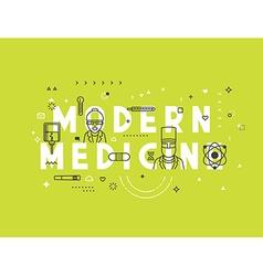 Medicine modern concept vector image