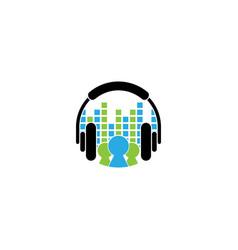 Music logo design template vector