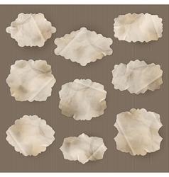old paper frame eps 10 vector image