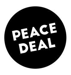 Peace deal stamp on white background vector